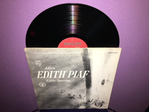 Adieu Edith Piaf - Little Sparrow Vinyl LP 1964 French Chanteuse
