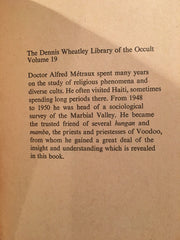The Dennis Wheatley Library of the Occult: Voodoo by Alfred Métreaux 1974 UK Edition Paperback