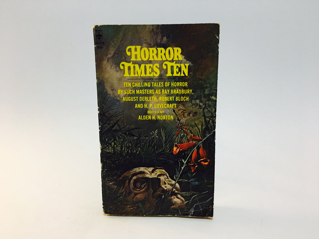 Horror Times Ten - Alden H. Norton 1972 Paperback Anthology - LaCreeperie