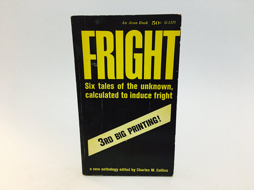 Fright edited by Charles Collins 1963 Paperback Anthology - LaCreeperie