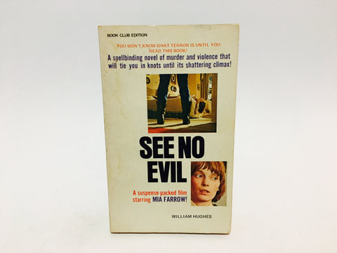 See No Evil by William Hughes 1971 Movie Tie-In Edition Paperback