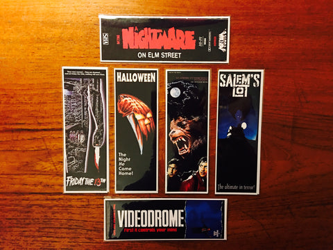 Horror Movie Bookmarks Series 3