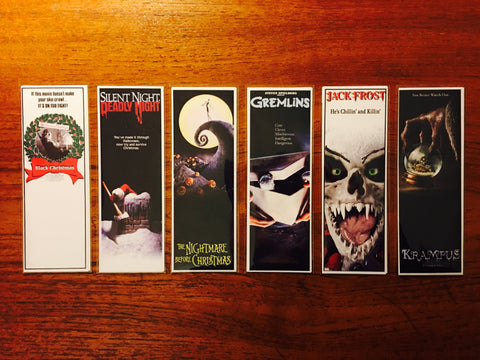 Christmas Horror Movie Bookmarks Series 1