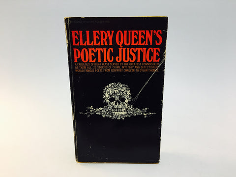 Ellery Queen's Poetic Justice 1970 Paperback Anthology