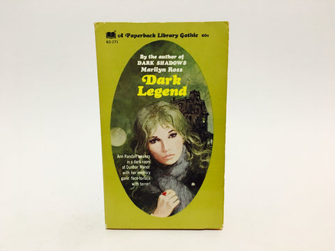 Dark Legend by Marilyn Ross 1970 Paperback