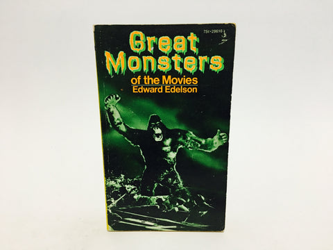 Great Monsters of the Movies by Edward Edelson 1974 Paperback