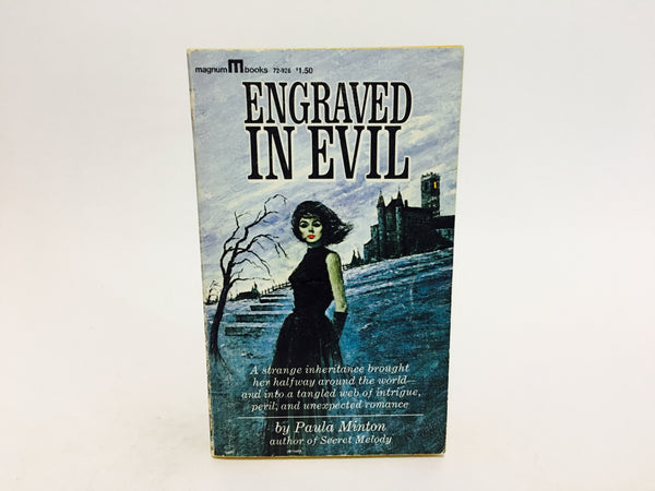 Engraved In Evil by Paula Minton 1965 Paperback - LaCreeperie