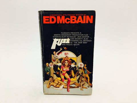 Fuzz by Ed McBain 1969 Movie Tie-In Edition Paperback