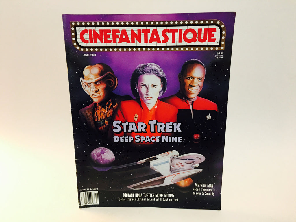 Cinefantastique Magazine April 1993 Vol. 23 #6 Star Trek Deep Space Nine TMNT - LaCreeperie