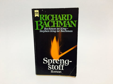 Sprengstoff (Roadwork) by Richard Bachman AKA Stephen King 1989 GERMAN EDITION Paperback
