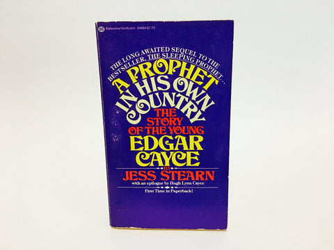 A Prophet in his own Country: The Story of the Young Edgar Cayce by Jess Stearn 1975 Paperback