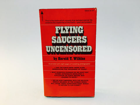 Flying Saucers Uncensored by Harold T. Wilkins 1974 Paperback