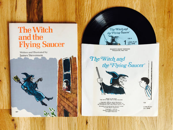 The Witch and the Flying Saucer by James Stevenson 1975 Book & Record Set