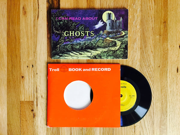 I Can Read About Ghosts by Erica Frost 1975 Softcover Book and Record Set