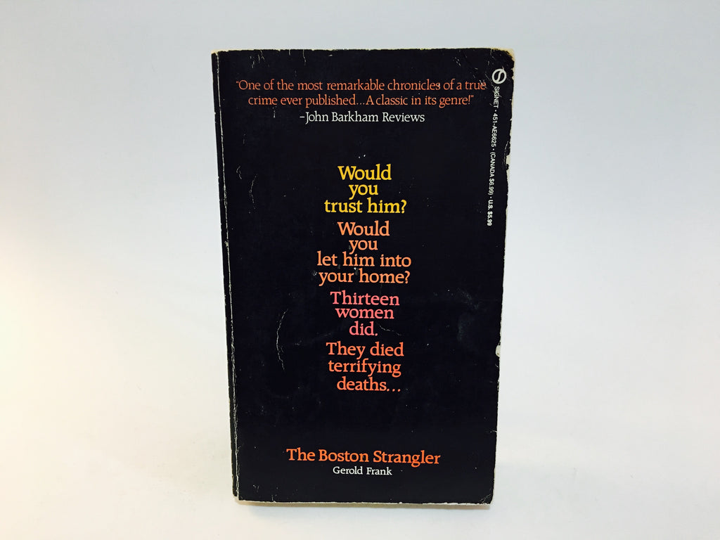 The Boston Strangler by Gerold Frank 1980s Edition Paperback True Crime - LaCreeperie