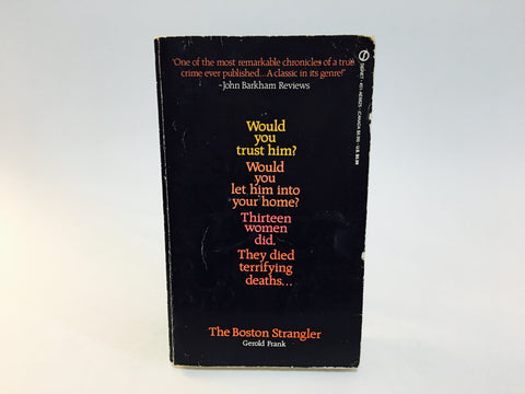 The Boston Strangler by Gerold Frank 1980s Edition Paperback True Crime