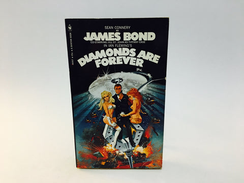 Diamonds Are Forever by Ian Fleming 1971 Movie Tie-In Edition Paperback