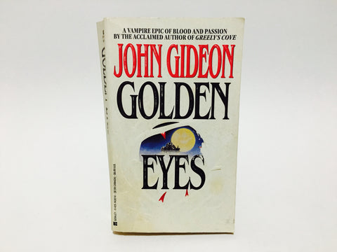 Golden Eyes by John Gideon 1994 Paperback Vampire Epic