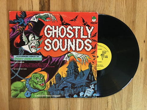 Ghostly Sounds Spooky Sound Effects LP 1970s Children's Halloween