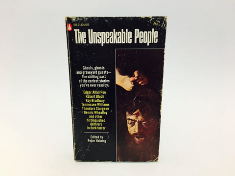 The Unspeakable People 1969 Paperback Anthology