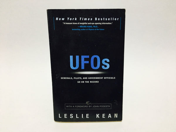 UFOs by Leslie Kean 2010 Softcover