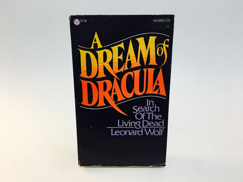 A Dream of Dracula by Leonard Wolf 1972 Paperback