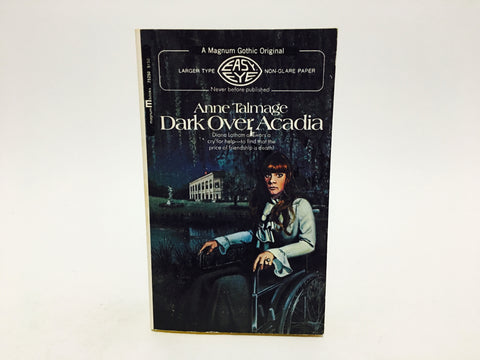 Dark Over Acadia by Anne Talmage 1971 Paperback