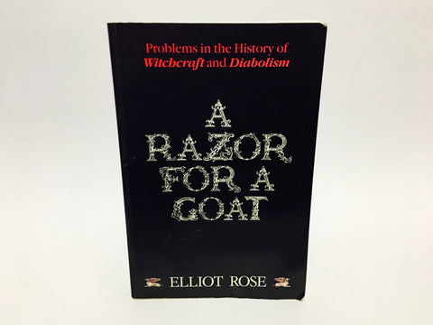 A Razor For A Goat by Elliot Rose 1989 First Edition Softcover