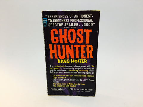 Ghost Hunter by Hans Holzer 1963 Paperback