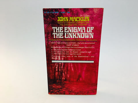 Enigma of the Unknown by John Macklin 1967 Paperback