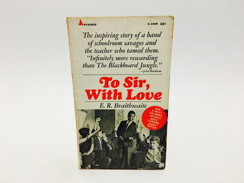 To Sir, With Love by E. R. Braithwaite 1968 Paperback