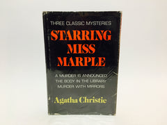 Starring Miss Marple: Three Classic Mysteries by Agatha Christie 1977 Hardcover Anthology - LaCreeperie