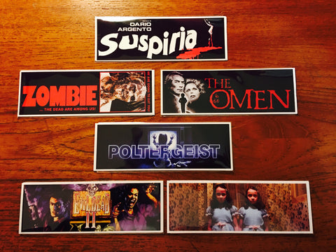 Horror Movie Bookmarks Series 1