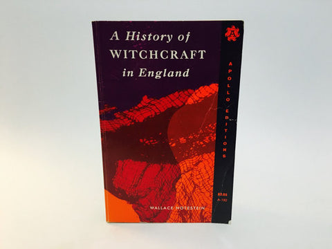 A History of Witchcraft in England by Wallace Notestein 1968 Softcover