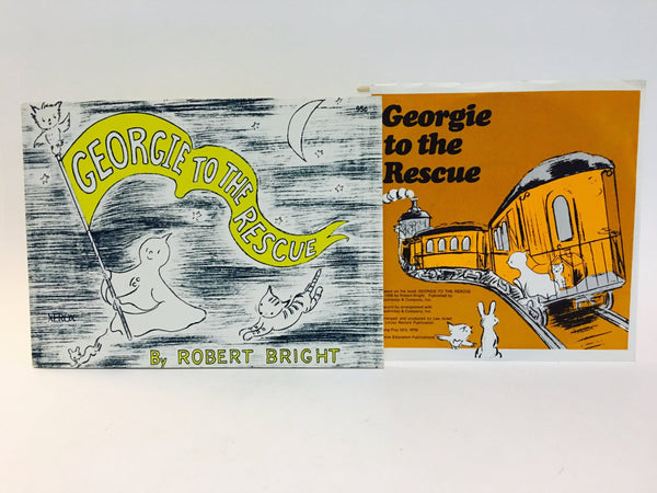Georgie to the Rescue by Robert Bright 1970s Softcover Book & Record Set