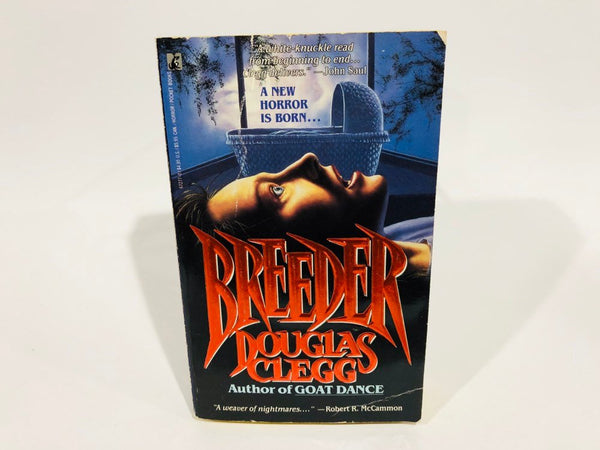 Breeder by Douglas Clegg 1990 First Edition Paperback