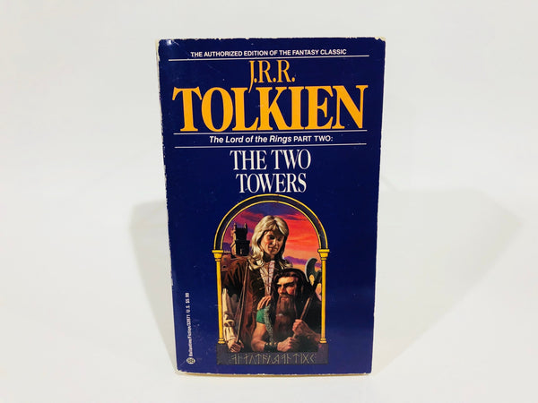 The Two Towers by J. R. R. Tolkien 1982 Edition Paperback LOTR
