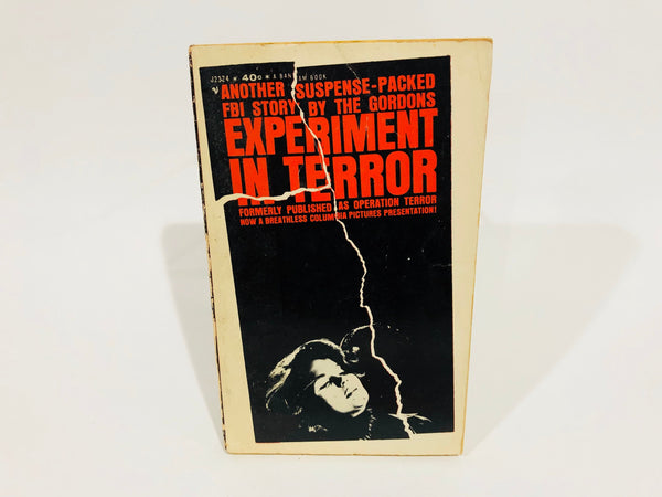 Experiment in Terror by The Gordons 1962 Movie Tie-In Edition Paperback