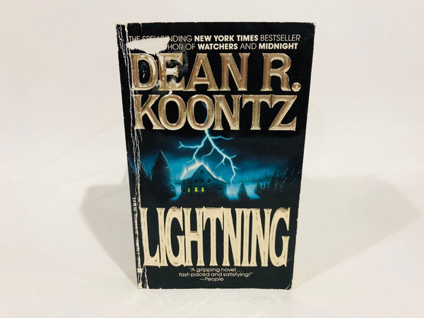 Lightning by Dean Koontz 1989 First Edition Paperback