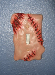 Sculpted Switchplate Fresh Flesh Horror Halloween Zombie Gore Art Home Décor - LaCreeperie
