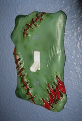 Sculpted Switchplate Frankenswitch Horror Halloween Zombie Gore Art Home Décor - LaCreeperie