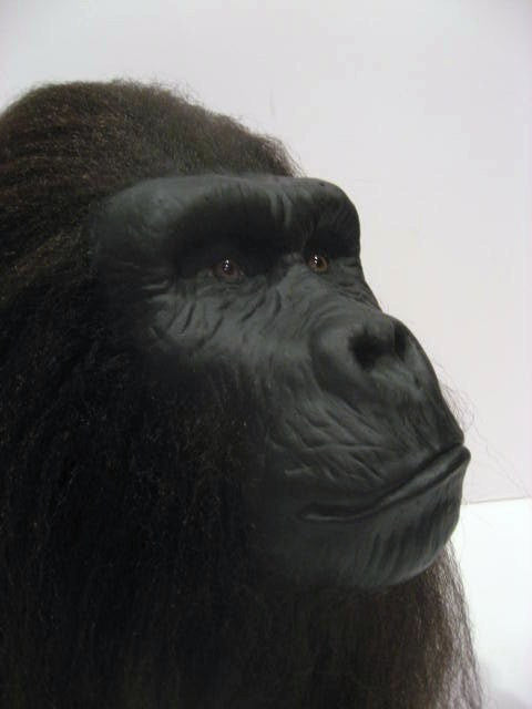 Handmade Prop Ape Display Head Sculpture Planet of the Apes Gorilla SciFi Art - LaCreeperie