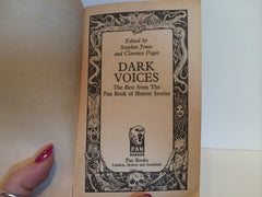Dark Voices: Best From Pan Book of Horror Stories Vol. 1 1990 Paperback Anthology - LaCreeperie