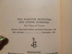 The 50 Meter Monsters and Other Horrors 1976 Young Adult Paperback - LaCreeperie