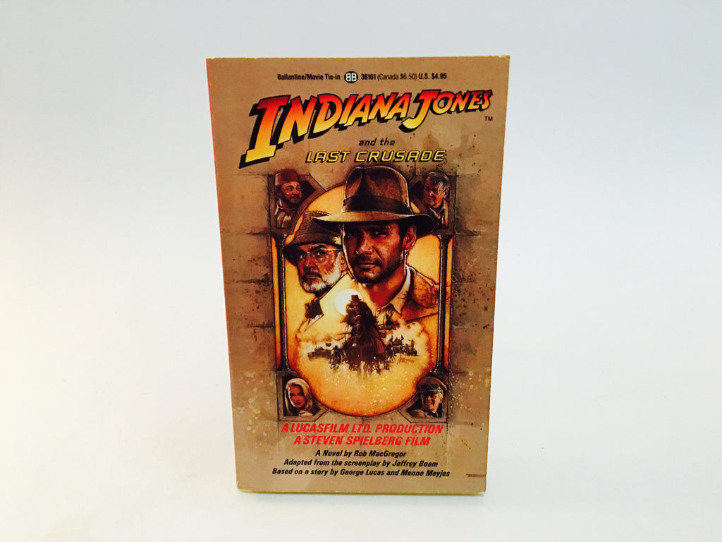 Indiana Jones and the Last Crusade 1989 Film Novelization Paperback - LaCreeperie