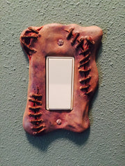 Sculpted Switchplate Zombiswitch Horror Halloween Zombie Gore Art Home Décor - LaCreeperie