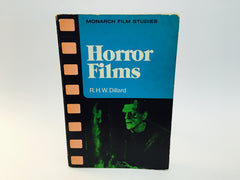 Horror Films by R.H.W. Dillard 1976 Softcover Film Studies - LaCreeperie