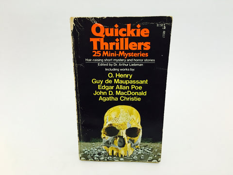 Quickie Thrillers 25 Mini-Mysteries 1976 Paperback Anthology