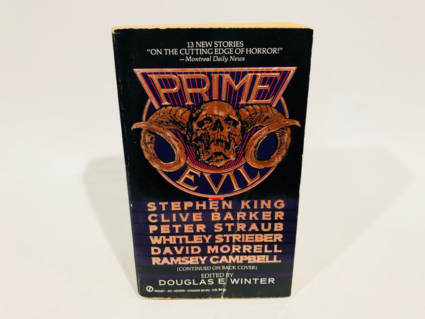 Prime Evil 1989 First Edition Paperback Anthology