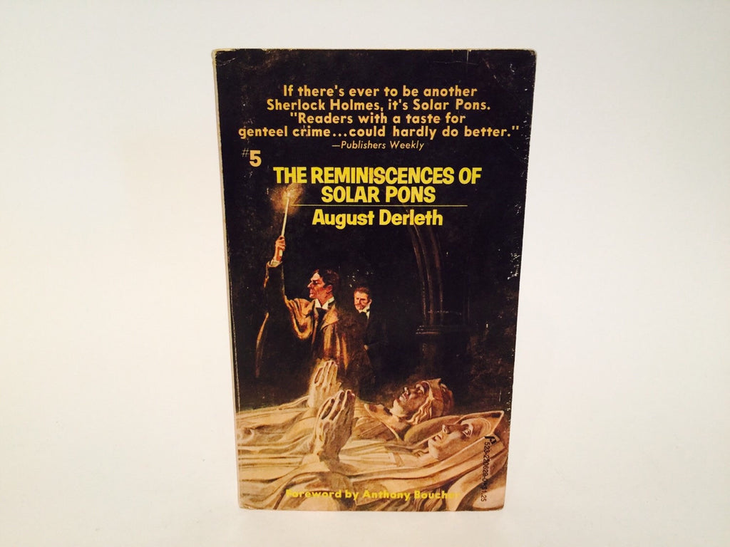 The Reminiscences of Solar Pons #5 by August Derleth 1975 Paperback - LaCreeperie